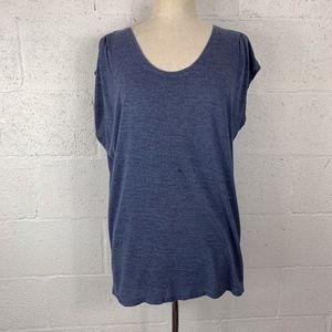 CAbi Sz L Blue Sleeveless Blouse/T-Shirt
